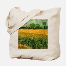 View of Arles with Irises Tote Bag