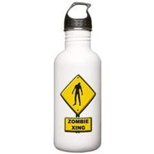 Zombie Crossing sign Water Bottle