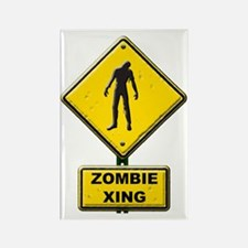 Zombie Crossing sign Rectangle Magnet