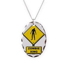 Zombie Crossing sign Necklace