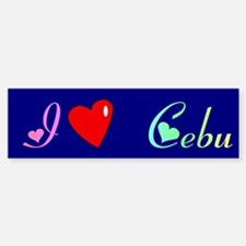 I Love Cebu Gifts Bumper Bumper Bumper Sticker