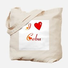 I Love Cebu Gifts Tote Bag