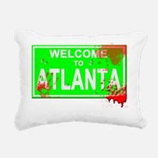 Welcome to Atlanta Blood Rectangular Canvas Pillow