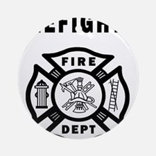 Firefighter Fire Dept Round Ornament