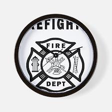 Firefighter Fire Dept Wall Clock