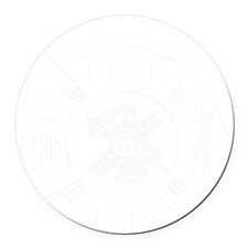 Firefighter Round Car Magnet