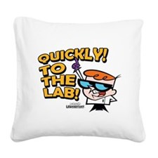 Quickly To The Lab! Square Canvas Pillow