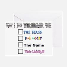 Why I Like Warhammer 40K Greeting Card