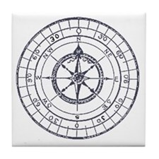 Compass Tile Coaster