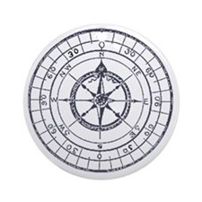 Compass Round Ornament