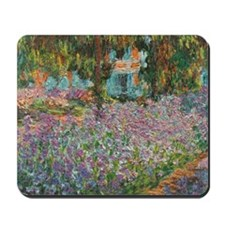 Irises in Monets Garden Mousepad