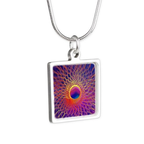 Profuse Star Silver Square Necklace