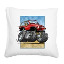 Red Wrangler Square Canvas Pillow