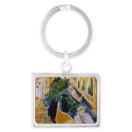 Gondolier of Venice Landscape Keychain