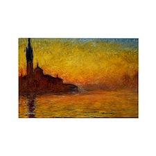 Monet Twilight Venice Rectangle Magnet