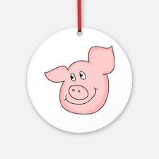Piggy Round Ornament