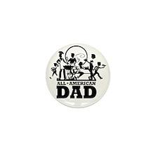 BBQ All American Dad Mini Button