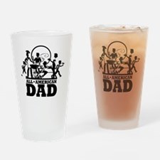 BBQ All American Dad Drinking Glass