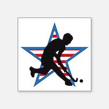 "hockey player Square Sticker 3"" x 3"""