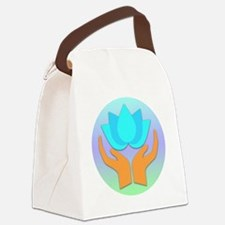 Lotus Flower - Healing Hands Canvas Lunch Bag