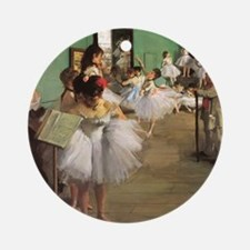 Edgar Degas Dancing Class Round Ornament