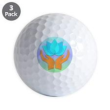 Lotus Flower - Healing Hands Golf Ball