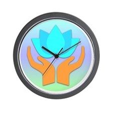 Lotus Flower - Healing Hands Wall Clock