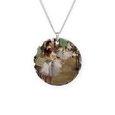 Edgar Degas Dancing Class Necklace Circle Charm