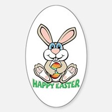 Happy Easter Oval Decal