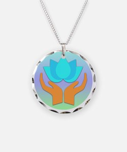 Lotus Flower - Healing Hands Necklace