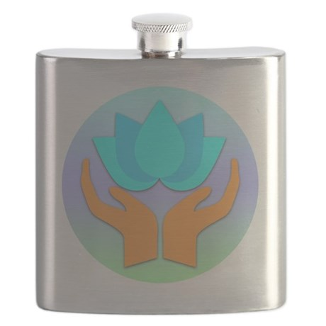 Lotus Flower - Healing Hands Flask