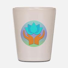 Lotus Flower - Healing Hands Shot Glass