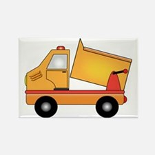 Cartoon Dump Truck Rectangle Magnet