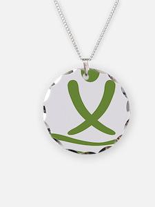 Green massage design Necklace