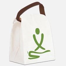 Green massage design Canvas Lunch Bag