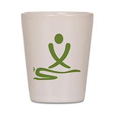 Green massage design Shot Glass