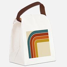 Retro Curve Canvas Lunch Bag