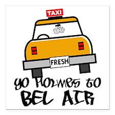"Yo Holmes to Bel Air Square Car Magnet 3"" x 3"""