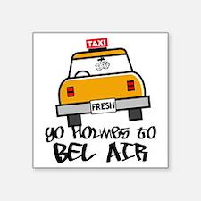 """Yo Holmes to Bel Air Square Sticker 3"""" x 3"""""""