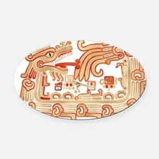 Xochicalco Serpent 1 Oval Car Magnet