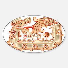 Xochicalco Serpent 1 Sticker (Oval)