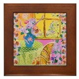 Hydrangea flowers Framed Tiles