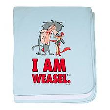 I Am Weasel Friends baby blanket