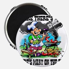 Where Theres Smoke BBQ Magnet