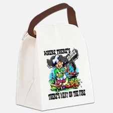 Where Theres Smoke BBQ Canvas Lunch Bag