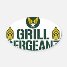 Grill Sergeant Oval Car Magnet