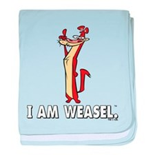 I Really Am Weasel! baby blanket