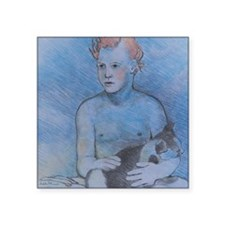 """Fire Hair - Mouse Pad Square Sticker 3"""" x 3"""""""