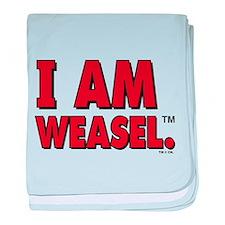 I Am Weasel Logo baby blanket
