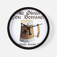 Ale Gives You Bonuses... Wall Clock